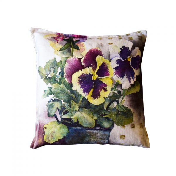 pansies cushion