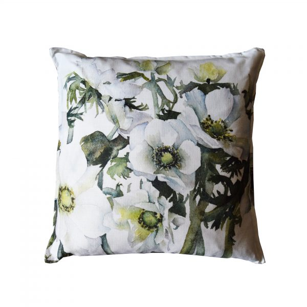 white anemones cushion