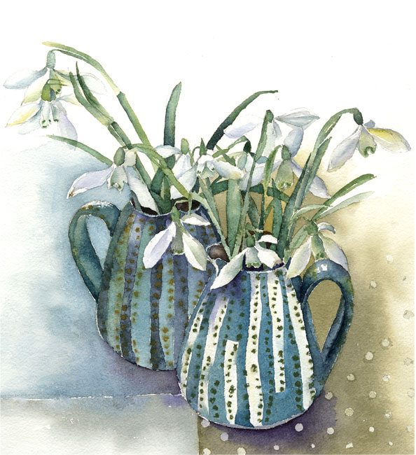 Snowdrops-in-Two-Jugs