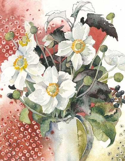 Into Autumn Floral Watercolour