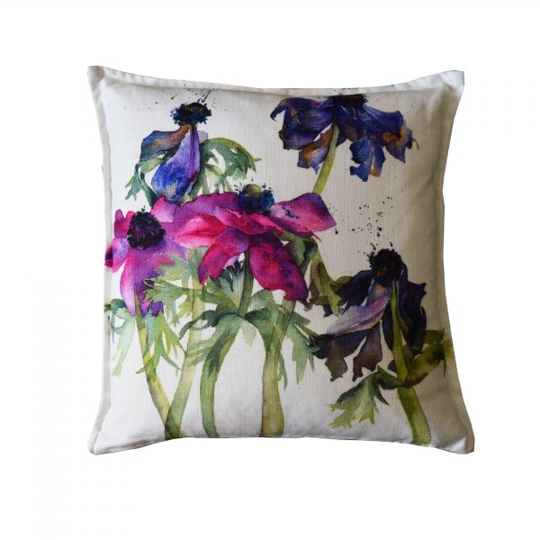 fading anemones cushion