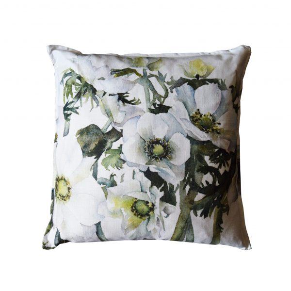 white anemones cushion